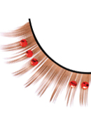 Starlight Edition - Brown-Red Rhinestone Eyelashes 513