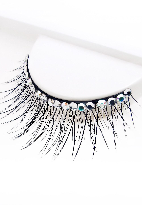 Eyelashes w Swarovski rhinestones 1L392 Black