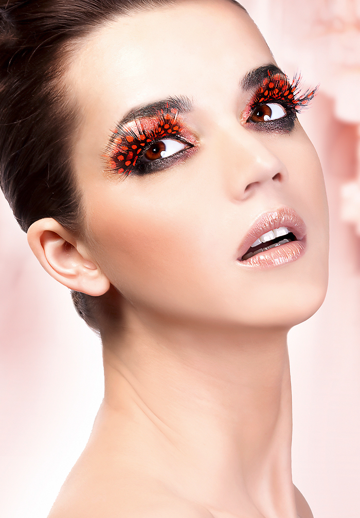 Paradise Dreams - Dark Red Feather Eyelashes 621