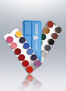 Aquacolor 24 Colors Wet Makeup Palette 1108