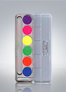 Aquacolor Day Glow Effect 6 UV Shades Palette 5177
