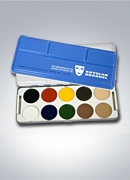 Kryolan Body Illustration Color (BIC) Palettes - 10 Colors 8104