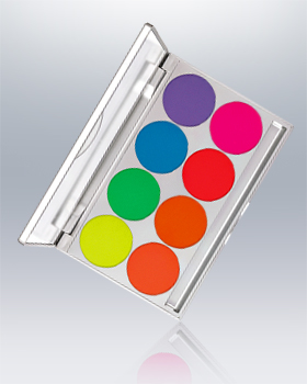 Kryolan UV-Dayglow Compact 8 Colors Palette 5368
