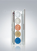 Kryolan Metallique 5 Colors Palette 5011