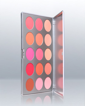 Kryolan Professional 15 Colors Blusher Set 5115