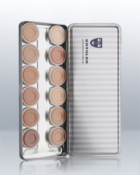 Kryolan Ultra Foundation Cream 12 Colors Palette 9004