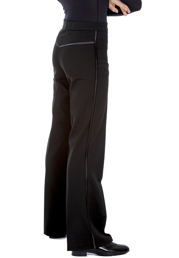 DSI Mens Gabardine Latin Dance Pants w/ Satin Binding & Satin Yoke 4003