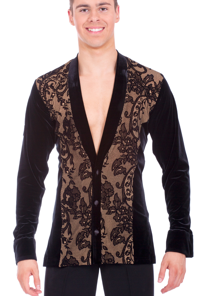 DSI Mens Gareth Latin Dance Shirt 4044