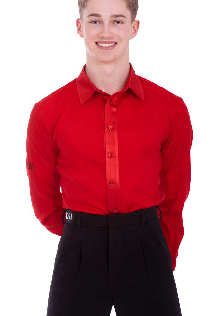 DSI Mens Satin Latin Dance Shirt with Pants 4024