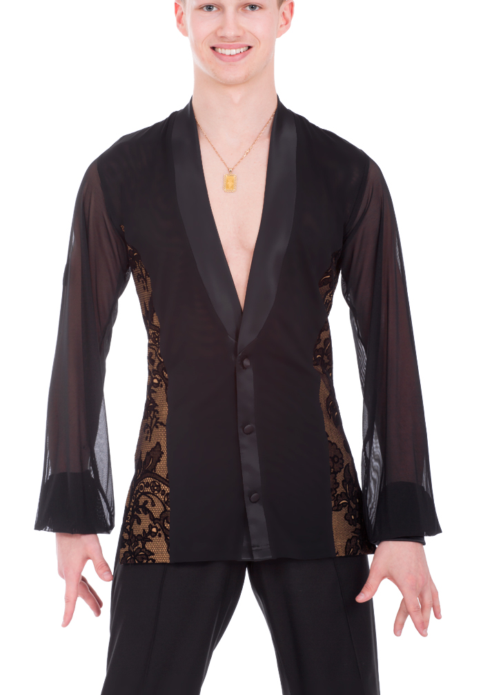 DSI Mens Wayne Latin Dance Shirt 4040