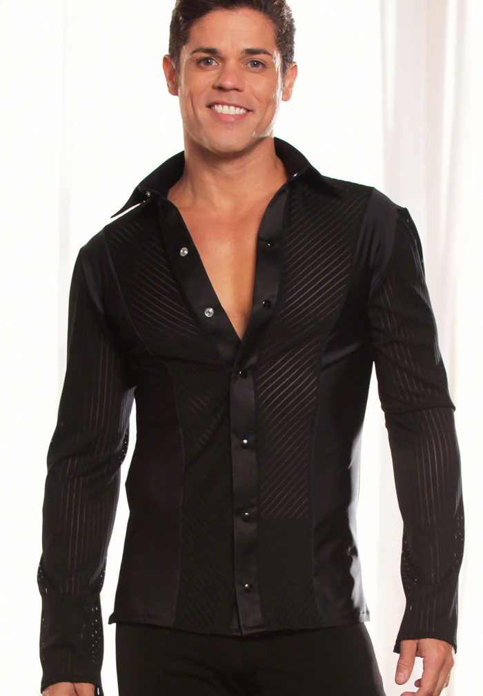 Dance America Mens Loose Fit Latin Shirt without Trunks MS20