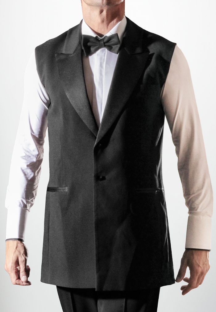 Dancemo Mens Ballroom Jacket Vest W/ Lapel 92015004