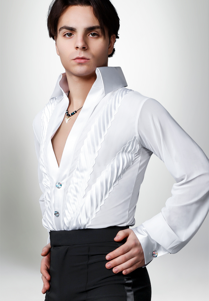 Dancemo Mens Latin Dance Body Shirt 92024050