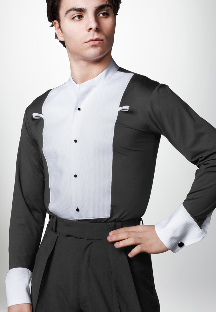 Dancemo Mens Stretch Ballroom Dance Shirt 92014101 a - e