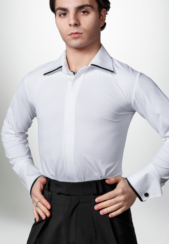 Dancemo Mens Stretch Ballroom Dance Shirt 92014104