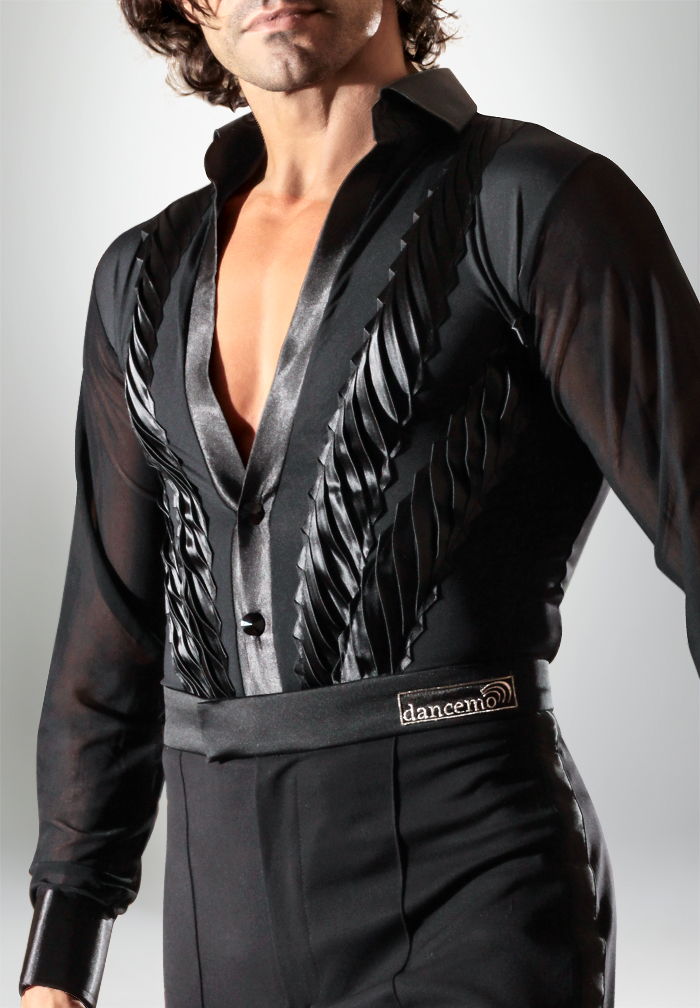 Dancemo Mens Whorl Latin Dance Body Shirt 92024050
