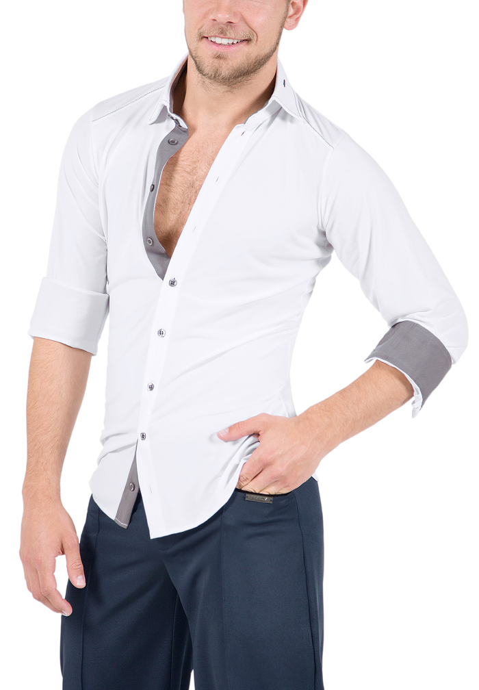 Maly Mens Dance Shirt with Contrast MF72203