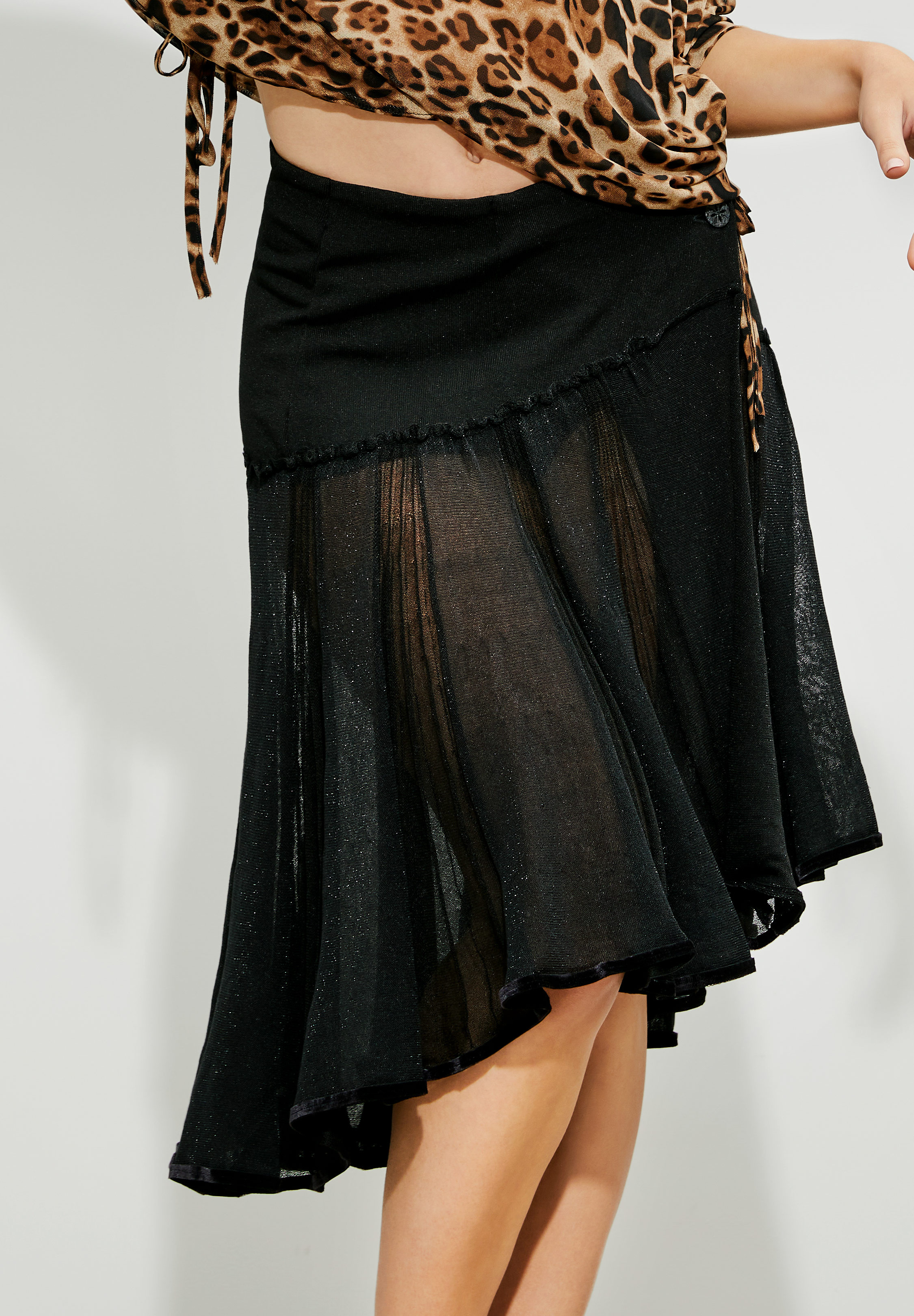 Je Dor Knitted Circular Dance Skirt JNS-101