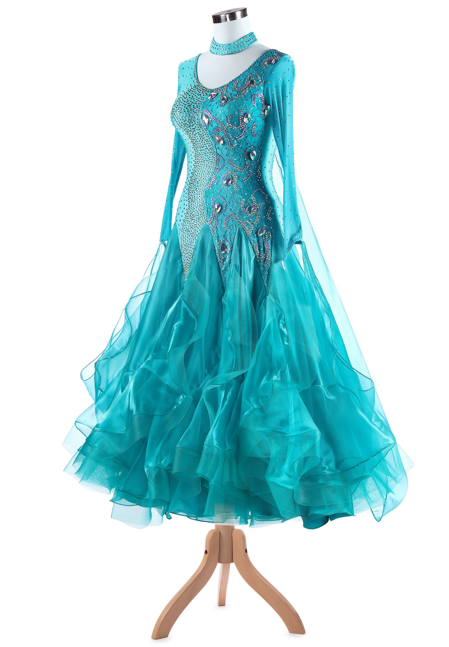 Exquisite Dual Division Standard Ballroom Dance Gown A5333 ...