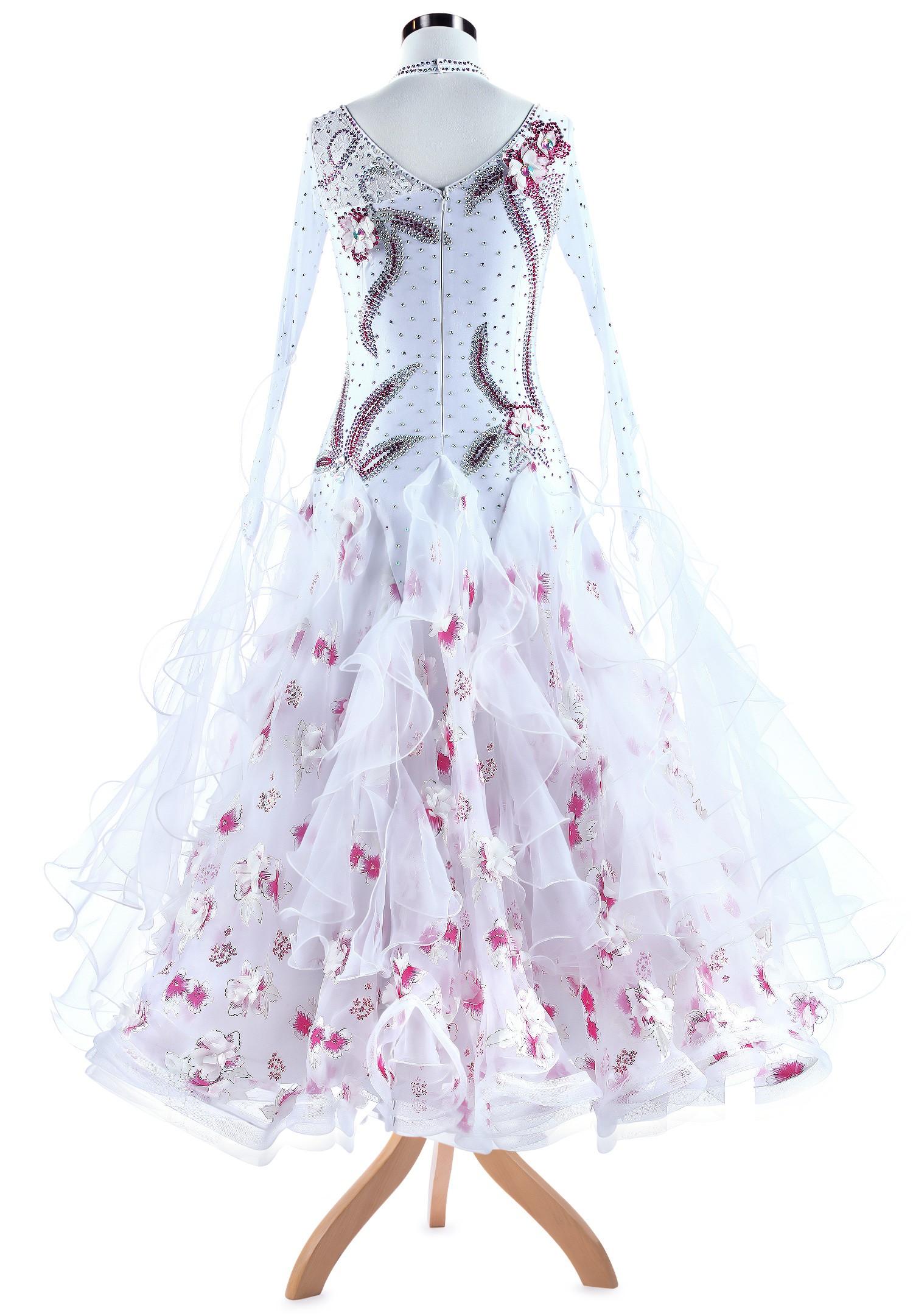 Floral Fairytale Crystal Ballroom Gown A5348 | DanceShopper