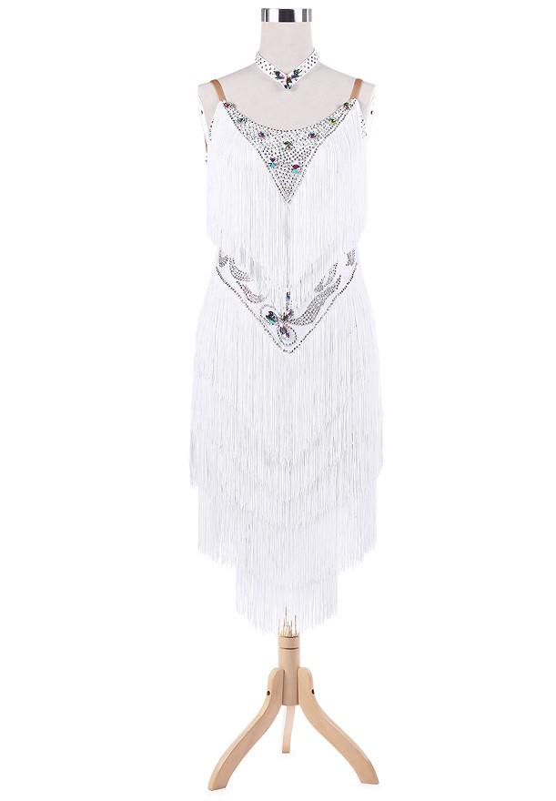 Inverted Triangle Sparkling Fringe Latin Rhythm Dress L5238 ...