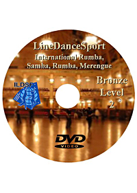 Bronze II Line Dancesport International Rumba, American Samba, Rumba, Merengue DILDSF06