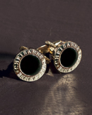 Chrisanne Black Onyx Centre Cufflinks