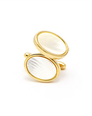 Cuff link - Oval Cuff Links