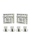 Square Cufflinks & Stud Set 4605