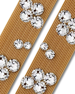 Ballroom Ave Crystallized Shoe Straps CS504 Nude