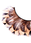Paradise Dreams - Brown-Beige Feather Eyelashes 623