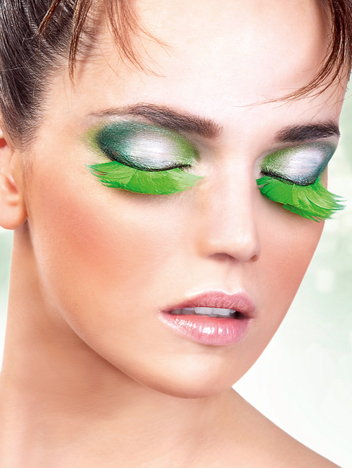 Paradise Dreams - Green Feather Eyelashes 620