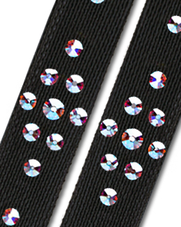 Ballroom Ave Crystallized Shoe Straps CS502 BLK