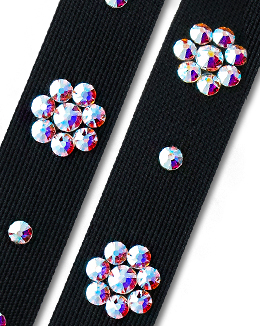 Ballroom Ave Crystallized Shoe Straps CS503 BLK