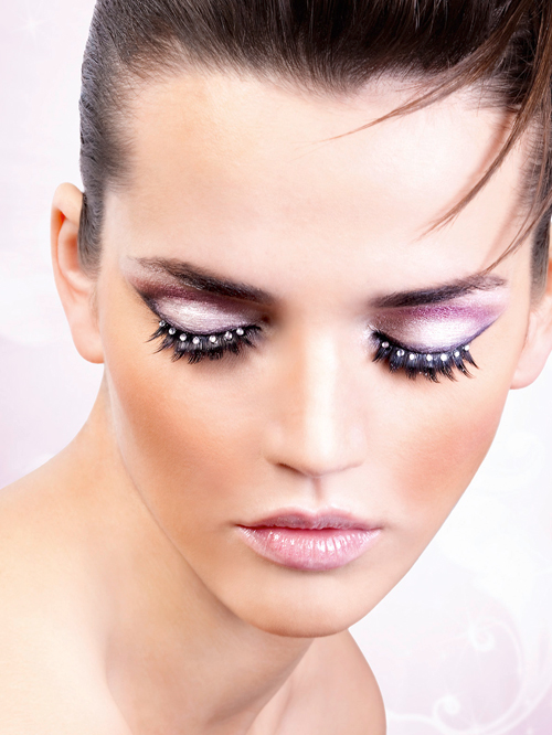 Starlight Edition - Black-White Rhinestone Eyelashes 516