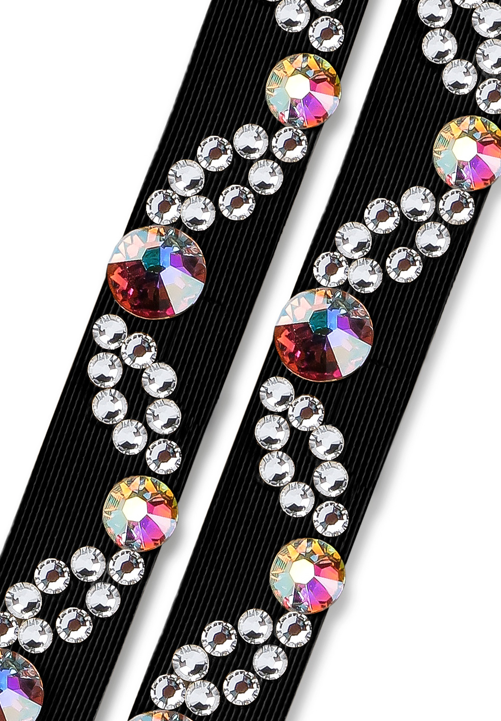 Ballroom Ave Crystallized Shoe Straps CS506 BLK