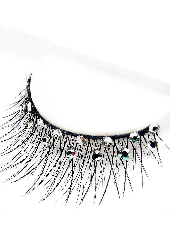 Eyelashes w Swarovski rhinestones 2L392 Black