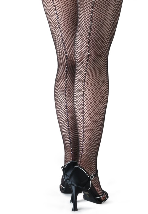 e33f69a927fc8 Crystallized Fishnet Tights - Swarovski Rhinestones on Capezio Tight ...