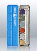 Aquacolor Metallic 6 Shades Palette 1117