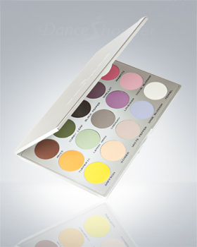 Kryolan Viva Brilliant Color Medley Matt 15 Colors 9115/01