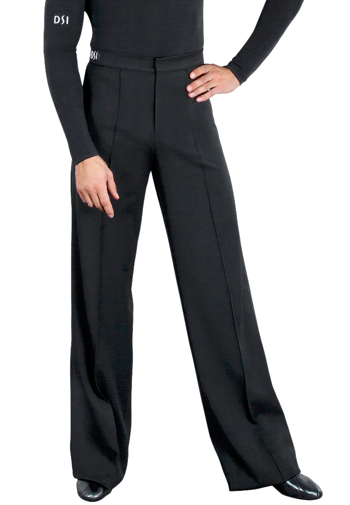 DSI Mens Gabardine Latin Trousers with Satin Binding 4004