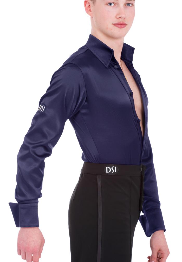 Dsi Mens Satin Latin Dance Shirt With Pants 4024 Latin Shirt
