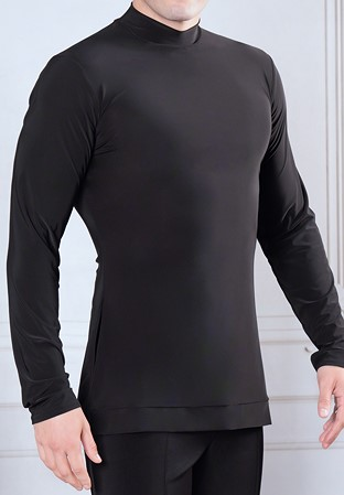 302883941f55f5 Dance America Mens Simple Turtleneck Tunic without Trunks MS6A-Black