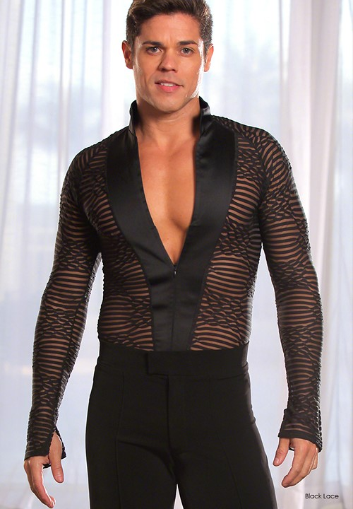 dc023ffc24a50 Dance America Mens Mandarin Collared Latin Dancing Shirt MS7|Dancewear