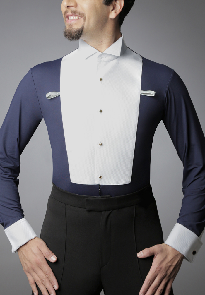 Dancemo Mens Ballroom Shirt with Built-in Collar 92014101