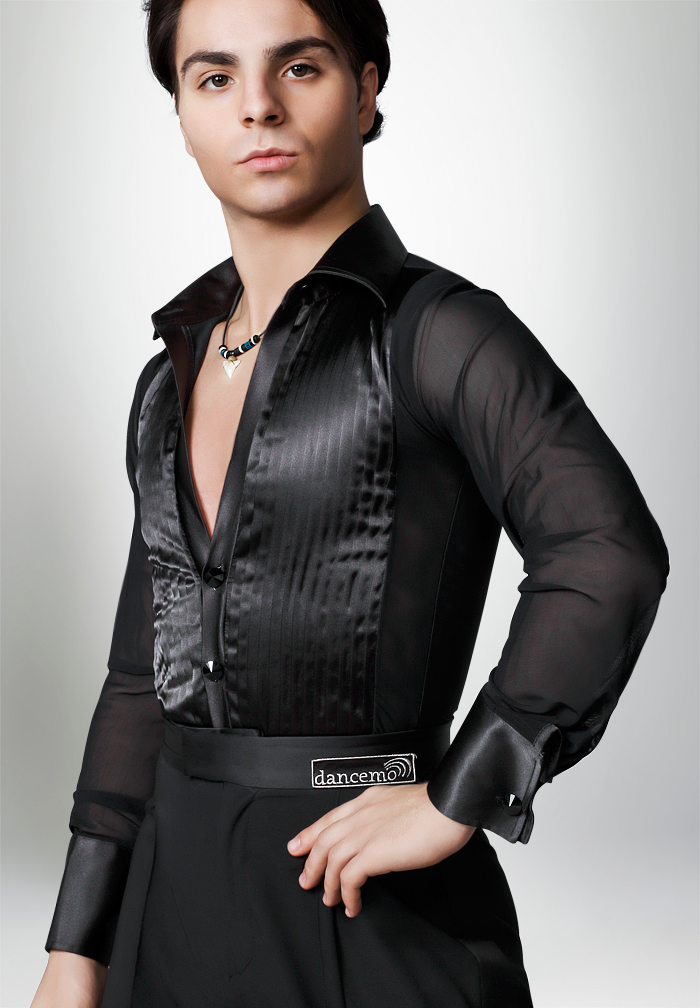 Dancemo Mens Latin Dance Body Shirt 92024052