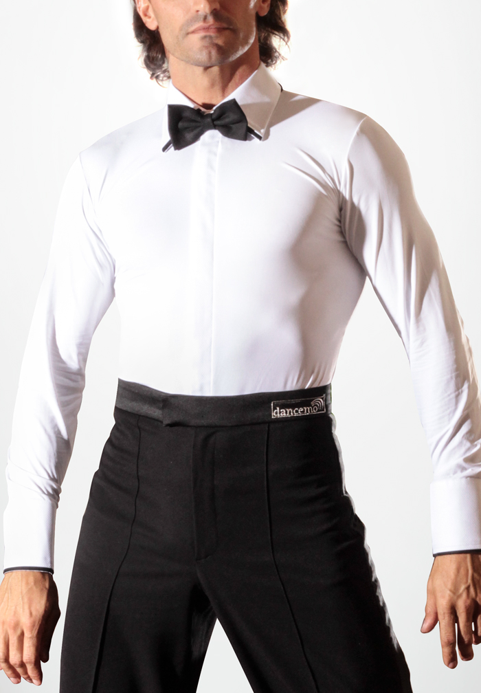 Dancemo Mens Stretch Ballroom Dance Shirt 92014304a