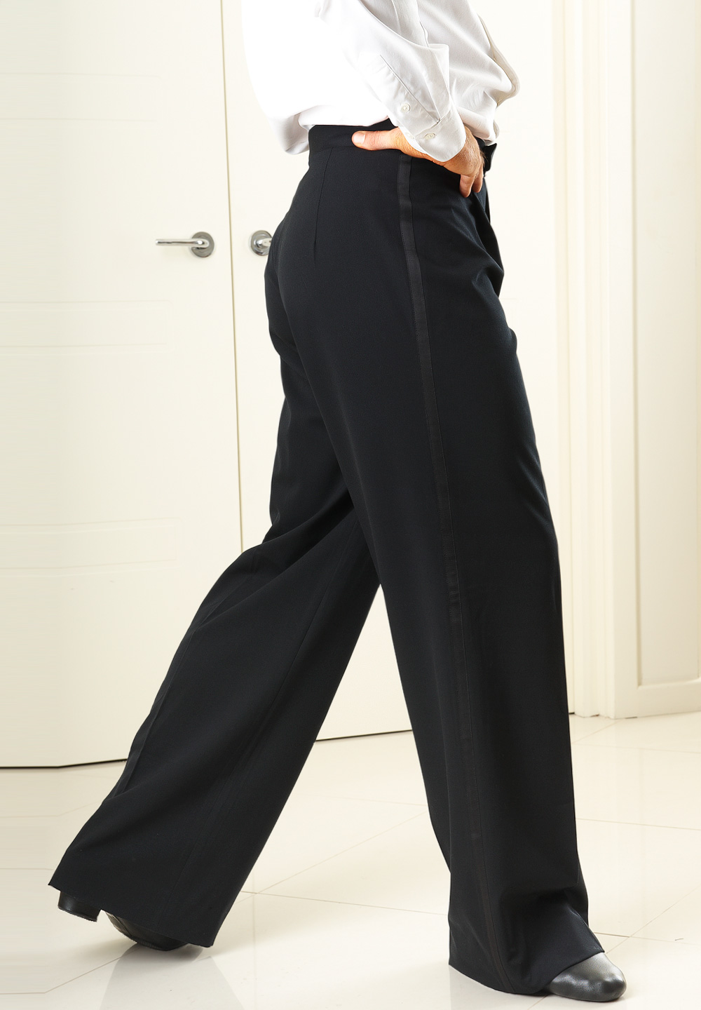 Je Dor Basic Ballroom Pants/Satin B3551AC