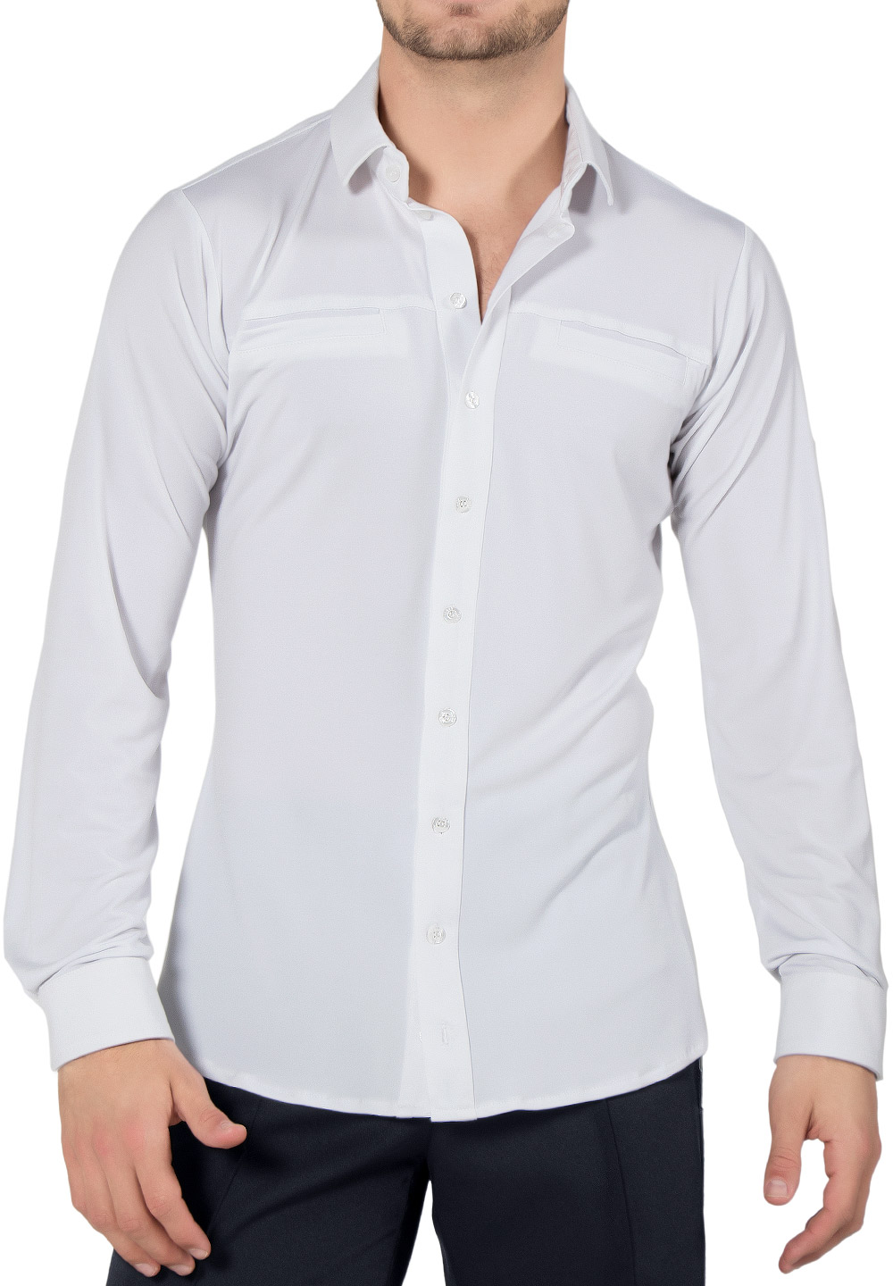 Maly Mens Shirt With Piping Trim MF182203