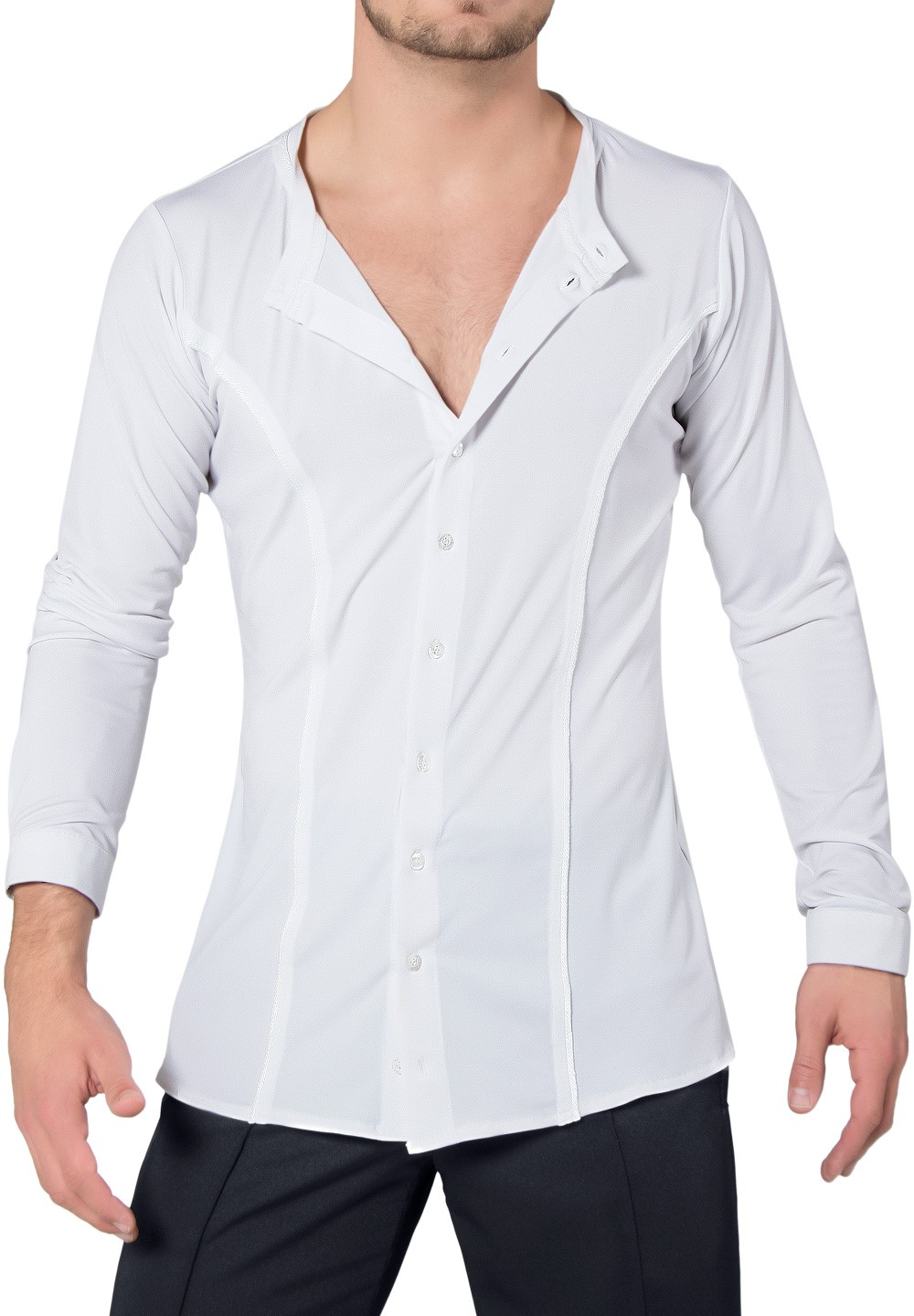 Maly Mens Shirt Without Collar Mf182202dancewear